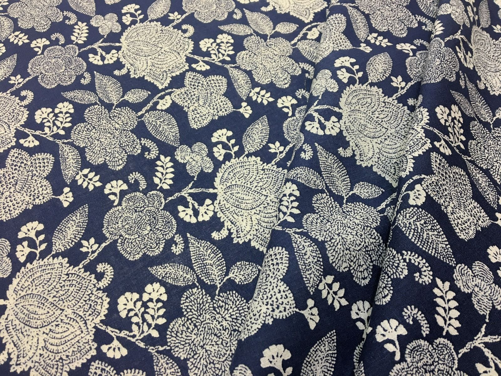 afb2ec39cf Henna Floral Linen Mix Denim Tex Ex 1963