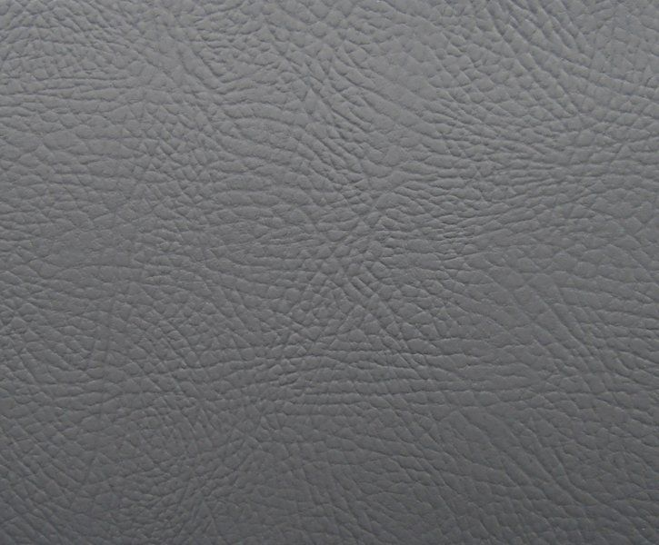Flame Retardant Grey Faux Leatherette Fabric | Textile Express