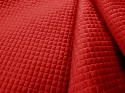 Quilted Velvet Red A126