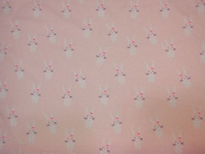 Brushed Cotton Bunnies Pink D73