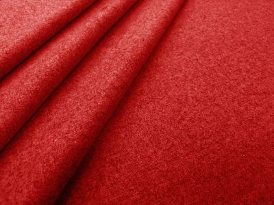 Plain Poly Wool Suiting Red C111