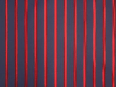 UV And Water Resistant Ticking Stripe Navy Red C265
