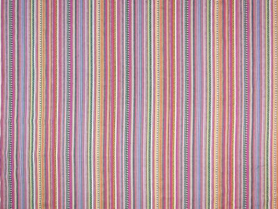 Peruvian Stripe Pink, Blue, Yellow
