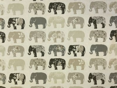 Studio G by Clarke and Clarke Elephants Natural