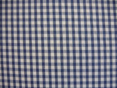 "1/4"" Gingham Check Polycotton Denim Blue"