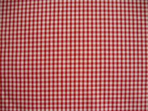 "1/8"" Gingham Check Polycotton Red"