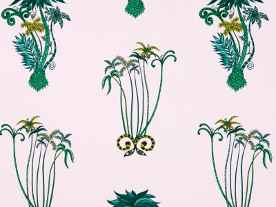 Clarke & Clarke Jungle Palms Pink