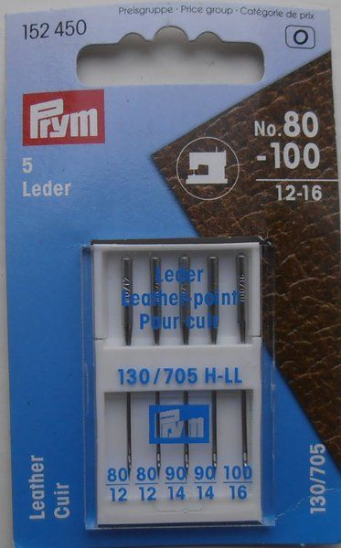 Prym Sewing Machine Needles for Leather