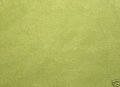 Faux Suede Fabric Light Green