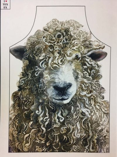 Farmyard Faces Longwool Ram Apron Plain