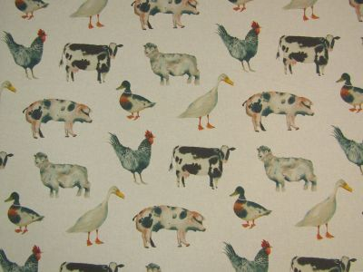 Clarke & Clarke On The Farm Multi Linen