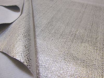 Heat Reflective Poly Thermal Fleece Silver P1