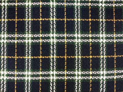 Tex Ex 1395 Wool Blend Stitch Check Navy Green