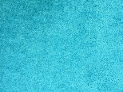 Luxury Cotton Terry Towelling Cyan