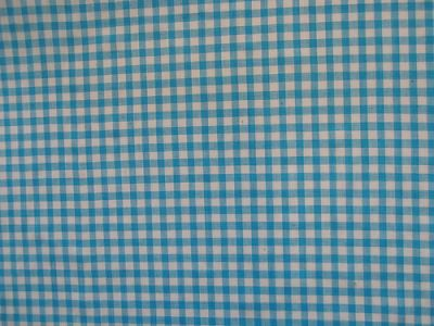"1/4"" Gingham Check 100% Cotton Turquoise"