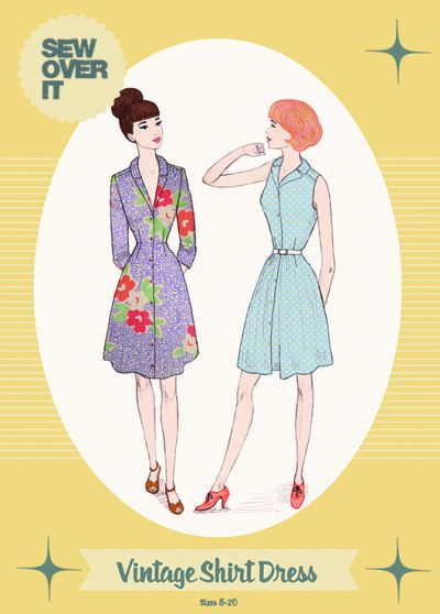 Sew Over It Vintage Shirt Dress Sewing Pattern