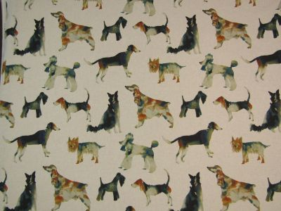 Clarke & Clarke Walkies Linen