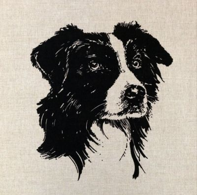 Cymru Welsh Collie Cushion Panel